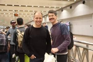 Petter Jacobsson (à gauche), directeur du CCN – Ballet de Lorraine et Thomas Caley (à droite),  coordinateur de recherche et répétiteur